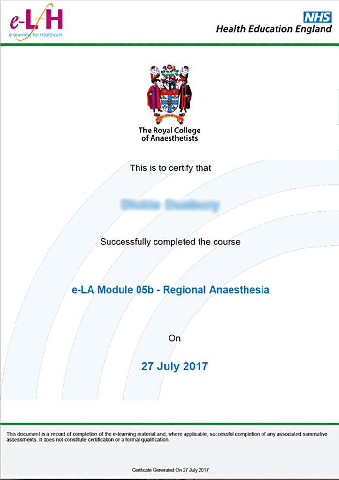 e-learning for anaesthesia