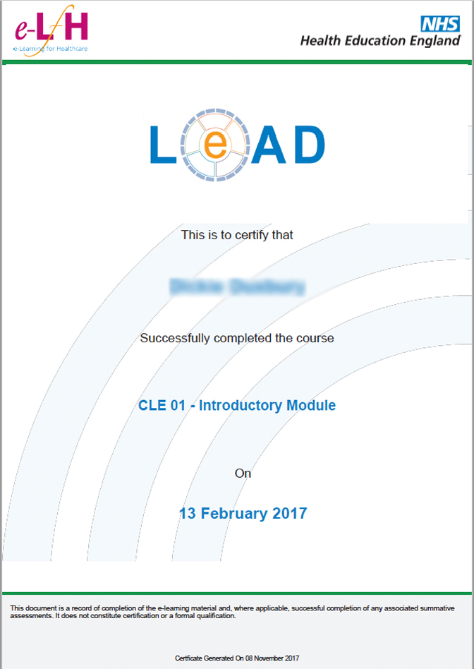 an online healthcare management course | lead - eintegrity | award