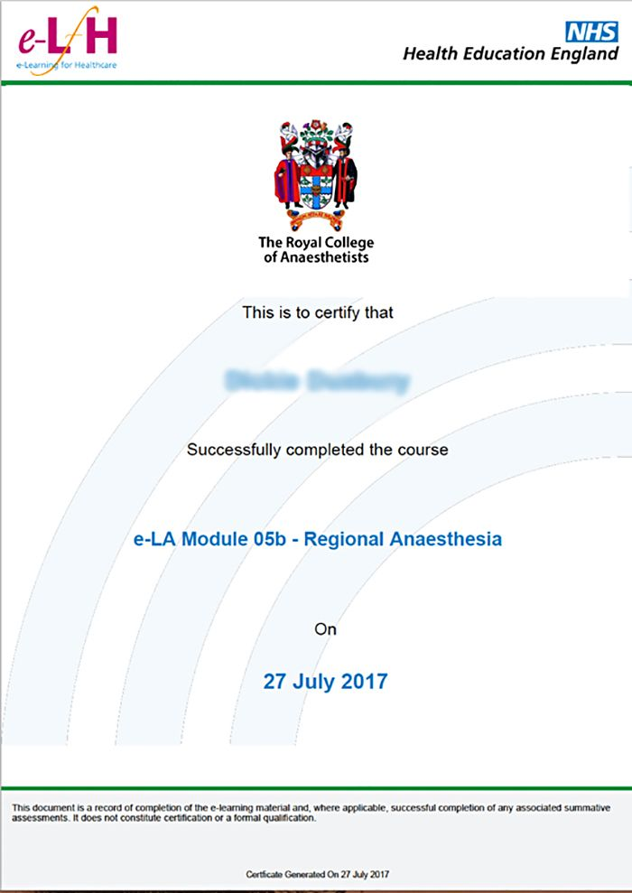 E Learning For Anaesthesia E La Eintegrity Award Winning
